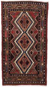 Hamadan Matto 80X140 Itämainen Käsinsolmittu Tummanpunainen/Tummanruskea (Villa, Persia/Iran)