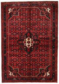 Hosseinabad Matto 155X223 Itämainen Käsinsolmittu Tummanpunainen/Tummanruskea (Villa, Persia/Iran)