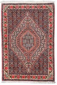 Senneh Matto 75X110 Itämainen Käsinsolmittu Tummanruskea/Tummanpunainen (Villa, Persia/Iran)