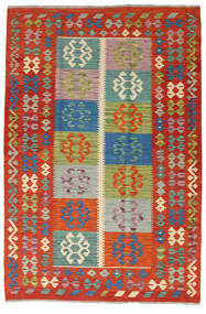Kelim Afghan Old Style Matto 127X190 Itämainen Käsinkudottu Ruoste/Tummanpunainen (Villa, Afganistan)