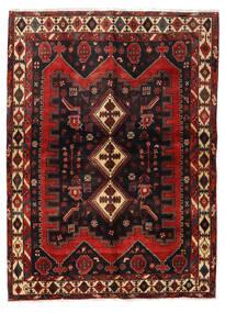Afshar Matto 152X208 Itämainen Käsinsolmittu Tummanpunainen/Musta (Villa, Persia/Iran)