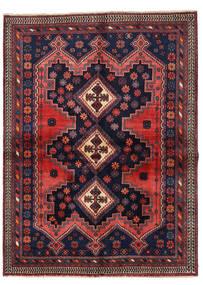 Afshar Matto 149X201 Itämainen Käsinsolmittu Musta/Tummanpunainen (Villa, Persia/Iran)