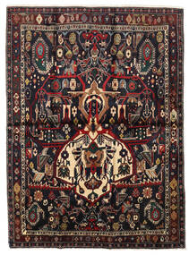 Afshar Shahre Babak Matto 136X185 Itämainen Käsinsolmittu Tummanpunainen/Vaaleanruskea (Villa, Persia/Iran)