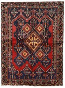 Afshar Matto 158X211 Itämainen Käsinsolmittu Tummanharmaa/Tummanpunainen (Villa, Persia/Iran)