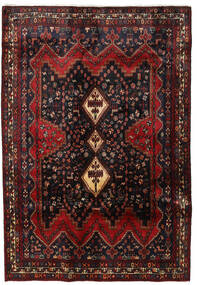 Afshar Matto 172X250 Itämainen Käsinsolmittu Musta/Tummanpunainen (Villa, Persia/Iran)