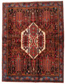 Afshar Matto 168X217 Itämainen Käsinsolmittu Tummanpunainen/Musta (Villa, Persia/Iran)