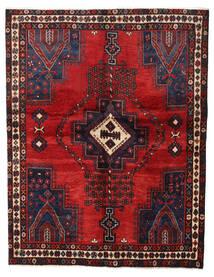 Afshar Matto 147X187 Itämainen Käsinsolmittu Tummanpunainen/Tummanruskea (Villa, Persia/Iran)