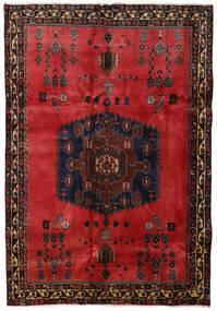 Afshar Matto 176X254 Itämainen Käsinsolmittu Tummanruskea/Tummanpunainen/Ruoste (Villa, Persia/Iran)