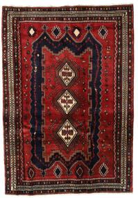Afshar Matto 167X241 Itämainen Käsinsolmittu Tummanpunainen/Musta (Villa, Persia/Iran)