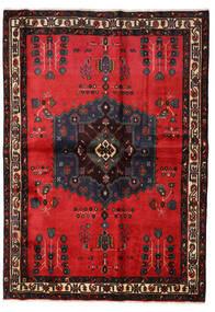 Afshar Matto 160X227 Itämainen Käsinsolmittu Musta/Punainen (Villa, Persia/Iran)