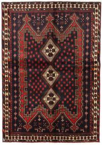 Afshar Matto 148X211 Itämainen Käsinsolmittu Musta/Tummanpunainen (Villa, Persia/Iran)