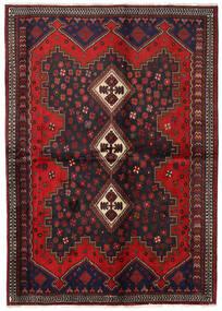 Afshar Matto 163X230 Itämainen Käsinsolmittu Tummanpunainen/Tummanruskea (Villa, Persia/Iran)