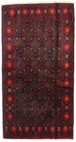 Beluch Matto 110X200 Itämainen Käsinsolmittu Tummanpunainen (Villa, Persia/Iran)