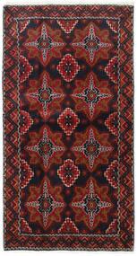 Beluch Matto 103X193 Itämainen Käsinsolmittu Tummanpunainen/Tummanruskea (Villa, Persia/Iran)