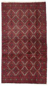 Beluch Matto 95X173 Itämainen Käsinsolmittu Tummanpunainen/Punainen (Villa, Persia/Iran)