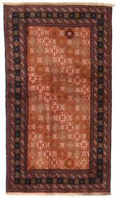 Beluch Matto 100X172 Itämainen Käsinsolmittu Punainen/Musta (Villa, Persia/Iran)