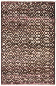 Moroccan Berber - Afghanistan Matto 115X175 Moderni Käsinsolmittu Tummanruskea/Tummanpunainen (Villa, Afganistan)