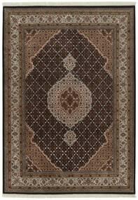 Tabriz Royal Matto 144X204 Itämainen Käsinsolmittu Tummanruskea/Ruskea ( Intia)
