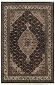 Tabriz Royal Matto 139X204 Itämainen Käsinsolmittu Tummanruskea/Vaaleanharmaa ( Intia)