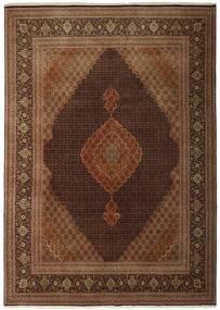 Tabriz 50 Raj Matto 250X348 Itämainen Käsinkudottu Ruskea/Tummanruskea Isot (Villa/Silkki, Persia/Iran)