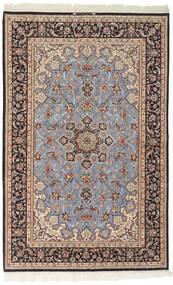 Isfahan Silkkiloimi Matto 156X239 Itämainen Käsinkudottu Vaaleanharmaa/Tummanruskea (Villa/Silkki, Persia/Iran)