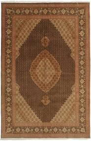 Tabriz 50 Raj Matto 196X301 Itämainen Käsinkudottu Ruskea/Tummanruskea (Villa/Silkki, Persia/Iran)