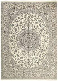 Nain 6La Matto 306X413 Itämainen Käsinkudottu Vaaleanharmaa/Beige Isot (Villa/Silkki, Persia/Iran)