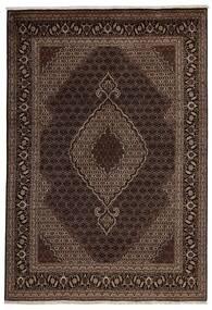 Tabriz 40 Raj Matto 200X288 Itämainen Käsinsolmittu Tummanpunainen/Tummanruskea (Villa/Silkki, Persia/Iran)
