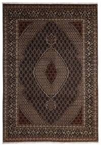 Tabriz 40 Raj Matto 204X293 Itämainen Käsinsolmittu Tummanpunainen/Tummanruskea (Villa/Silkki, Persia/Iran)