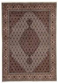 Tabriz 40 Raj Matto 170X241 Itämainen Käsinsolmittu Vaaleanruskea/Tummanpunainen (Villa/Silkki, Persia/Iran)