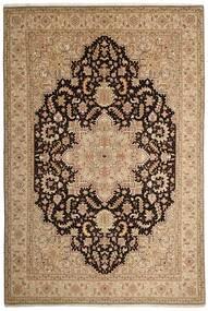 Tabriz 50 Raj Matto 200X294 Itämainen Käsinkudottu Vaaleanruskea/Tummanbeige (Villa/Silkki, Persia/Iran)