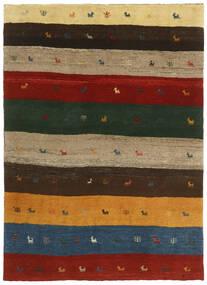 Gabbeh Persia Matto 123X176 Moderni Käsinsolmittu Tummanvihreä/Punainen (Villa, Persia/Iran)