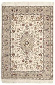 Isfahan Silkkiloimi Matto 130X182 Itämainen Käsinkudottu Vaaleanharmaa/Beige (Villa/Silkki, Persia/Iran)