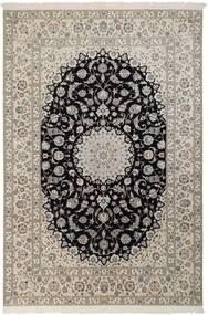 Nain 6La Matto 210X310 Itämainen Käsinsolmittu Vaaleanharmaa/Musta (Villa/Silkki, Persia/Iran)