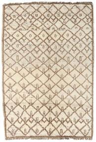 Moroccan Berber - Afghanistan Matto 96X134 Moderni Käsinsolmittu Beige/Vaaleanharmaa (Villa, Afganistan)