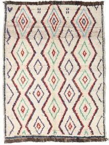 Moroccan Berber - Afghanistan Matto 96X127 Moderni Käsinsolmittu Beige/Tummanbeige (Villa, Afganistan)