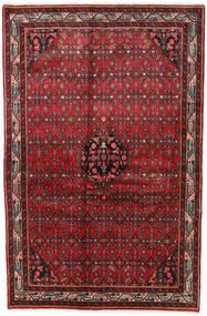 Asadabad Matto 125X189 Itämainen Käsinsolmittu Tummanpunainen/Tummanruskea (Villa, Persia/Iran)