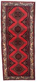 Hamadan Matto 78X185 Itämainen Käsinsolmittu Käytävämatto Tummanpunainen/Punainen (Villa, Persia/Iran)