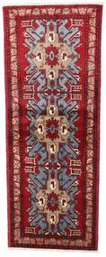 Turkaman Matto 77X196 Itämainen Käsinsolmittu Käytävämatto Tummanpunainen/Punainen (Villa, Persia/Iran)