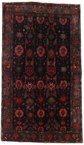 Hamadan Matto 127X227 Itämainen Käsinsolmittu Musta/Tummanpunainen (Villa, Persia/Iran)