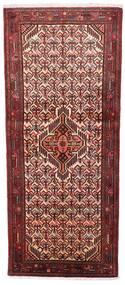 Asadabad Matto 79X185 Itämainen Käsinsolmittu Käytävämatto Tummanpunainen/Tummanruskea (Villa, Persia/Iran)