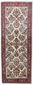 Sarough Matto 78X209 Itämainen Käsinsolmittu Käytävämatto Tummanruskea/Tummanpunainen (Villa, Persia/Iran)