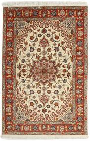 Tabriz 50 Raj Matto 102X153 Itämainen Käsinkudottu Tummanpunainen/Vaaleanruskea (Villa/Silkki, Persia/Iran)