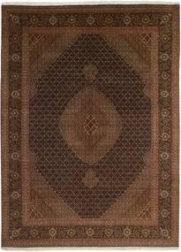 Tabriz 50 Raj Matto 247X344 Itämainen Käsinkudottu Musta/Tummanruskea (Villa/Silkki, Persia/Iran)