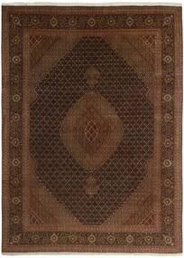 Tabriz 50 Raj Matto 244X344 Itämainen Käsinsolmittu Tummanruskea/Ruskea (Villa/Silkki, Persia/Iran)