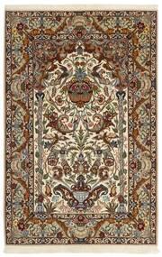 Isfahan Silkkiloimi Matto 130X201 Itämainen Käsinkudottu Tummanruskea/Ruskea (Villa/Silkki, Persia/Iran)