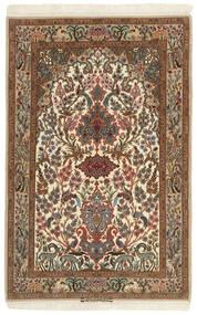 Isfahan Silkkiloimi Matto 102X161 Itämainen Käsinkudottu Ruskea/Vaaleanruskea (Villa/Silkki, Persia/Iran)