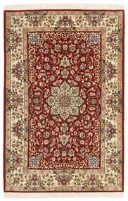 Isfahan Silkkiloimi Matto 105X165 Itämainen Käsinkudottu Tummanpunainen/Beige (Villa/Silkki, Persia/Iran)