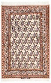 Isfahan Silkkiloimi Matto 106X161 Itämainen Käsinsolmittu Beige/Tummanruskea (Villa/Silkki, Persia/Iran)