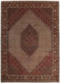 Bidjar Silkillä Matto 250X350 Itämainen Käsinsolmittu Tummanpunainen/Ruskea Isot (Villa/Silkki, Persia/Iran)